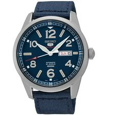 Seiko SRP623K1 Blue Nylon Strap Automatic Men's Analog Watch with Box