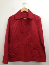 Yazz - Bright Red Double Breasted Button Front Collared Jacket Size Uk 12 (M484)