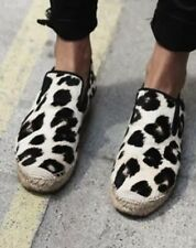 100% authentic CELINE ponyhair espadrilles animal print flats shoes leather 39