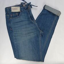 TAGGED @ £30.00!!  NEXT DISTRESSED BLUE DENIM TAPERED LEG SLOUCH JEANS. SIZE 10R