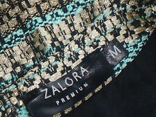 ZALORA,Premium GreenGoldStripedAlinePocketedMini SzM