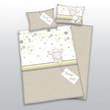 Flanell Babybettwäsche Schafe 100x135 40x60 cm 100% Baumwolle Kinderbettwäsche