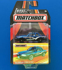 2016 BEST OF MATCHBOX - 1993 V8 FORD MUSTANG LX SSP SHERIFF POLICE CAR - mint!