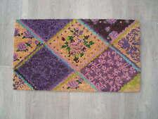 Fußmatte Kokosmatte Türvorleger * Patchwork * lila natur Türmatte ca. 70 x 40 cm