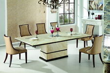 Marble Dining Table with 8 Chairs, BRAND NEW Beige Colour