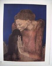 PICASSO -Motiv: die Frau mit dem Raben hochw. LICHTDRUCK Kunstdruck NEU -Rarität