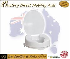 """Raised Toilet seat 4"""" 100mm With Lid easy clip on"""