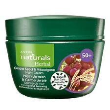 (5,98€/100ml)Avon naturals Herbal Traubenkern & Weizenkeim Nachtcreme 50+