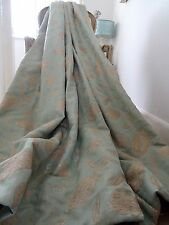 Beautiful CURTAINS shabby COTTAGE chic TREE OF LIFE chenille accents 2 PAIRS AV