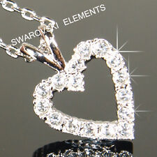 SALE White Gold Filled Necklace 13 x 20 mm use Swarovski Crystal Prom Gift N790