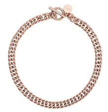 New �� Mimco Curbaceous Rose Gold Choker Necklace + Dust Bag