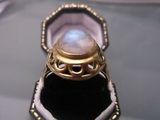 Women's Vintage 14ct Gold 'Moonstone' Ring Quality Stamped Size S Weight 4.6g