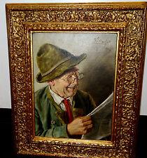 Ölbild,Ernst Stierhof, geb. 1918,München, Portrait Zeitungsleser