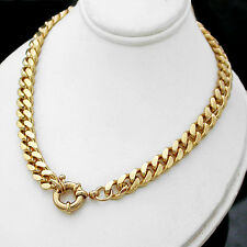 """LADIES 24"""" BOLT RING CLASP 7mm Rounded CURB Link 14K GOLD GL Necklace +LIFE GUAR"""