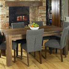 Shiro solid walnut home dining room furniture six seater dining table