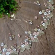 1Yard Coloful Embroidery Tulle Lace Trim Lace Fabric Wedding Dress DIY Sewing