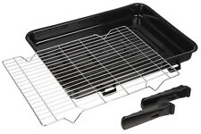 Large Vitreous Enamel Oven Grill Pan with Handles & Rack for Bosch 420 x 300mm