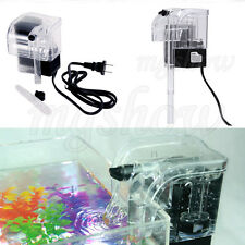 250L/H External Marine Aquarium Fish Tank Hang On Waterfall pump Fresh Filter