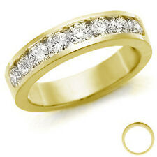 RRP £2000 1/2 Carat Round Diamond Channel Set Half Eternity Ring 18k Yellow Gold