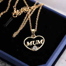 Fashion Women Jewelry Mother's Day Mum Gift Gold Heart Chain Pendent Necklace