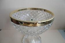 Schale, Aufsatzschale aus Kristallglas mit Goldauflage 24 Karat. Höhe 20 cm