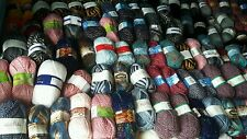 joblot mixed 50 brand new 100g balls of yarn in assorted colours 5kg