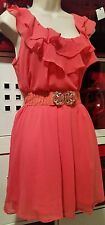 BNWT TEMT ♡♡ ♡ Woven Red summer dress Beach cocktail party casual size 8 /10