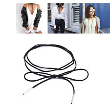 1 Pc Black Leather Necklace Strap DIY Lace Up Shoelace Style Swag Unique Thin