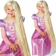 Girls Rapunzel Glow In The Dark 80cm Wig Tangled Disney Princess Fancy Dress