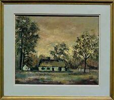 Expressionist Josef Stalin Berliner Schule BokKryk dat. 1962 Landschaft mit Haus