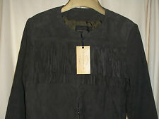 STUNNING LADIES. FRENCH CONNECTION GENUINE LEATHER /SANCHO SUEDE FRINGY JACKET