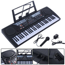 61 Key Digital Music Electronic Keyboard Kids Electric Piano Organ Gift Black
