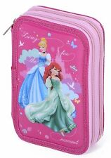 Disney Princess Double Tier Filled Pencil Case Stationery Home School