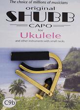 C9B SHUBB BRASS UKULELE CAPO LATEST MODEL RELEASE - MADE IN USA