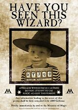 Unique personalised Harry Potter 'Wanted' poster gift party birthday Xmas A4