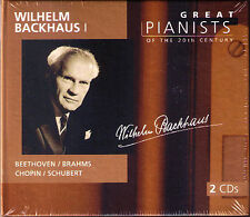Wilhelm BACKHAUS 1 GREAT PIANISTS OF THE 20TH CENTURY 2CD Beethoven Brahms Liszt