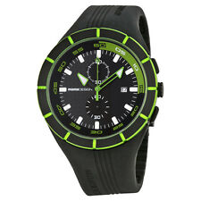 Momo Design Highway Black and Green Dial Black Silicone Mens Watch-AU