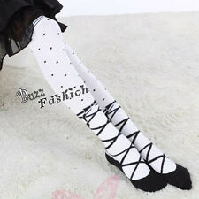 Anime Accessories Cosplay Kostüm Strümpfe Stockings Schwarz Dots Leggings Socken