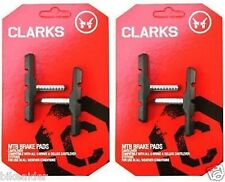 Clarks (2 PAIRS) MTB V Type Canti 70mm Brake Blocks Pads Shoes Post Non Threaded