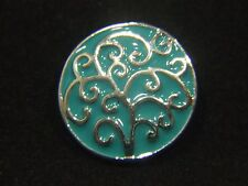 Noosa Style Chunk Chunks Snap On Charms Button Jewellery Tree Of Life Green 18mm