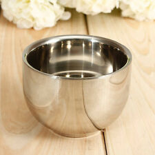 New Arrival Soap Cup Shinning Double Layer Stainless Steel Shaving Mug Bowl Cup