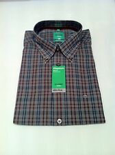 BNWT OLYMP Long Sleeved Shirt In Brown/Red Check Size XL