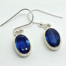 Real kyanite drop earrings, solid Sterling Silver, new, actual ones, Faceted #5