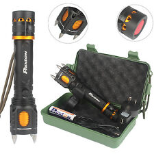 5000LM CREE T6 LED Tactical Flashlight USB Rechargeable Torch With Attack Heads