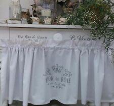Scheibengardine Landhaus Bistrogardine Vorhang Vintage Shabby Chic Krone Weiß