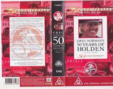 MOTOR SPORT 50 YEARS OF HOLDEN  VHS VIDEO PAL  A RARE FIND