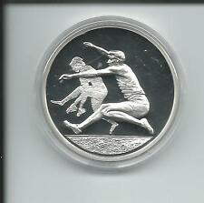 Münze Griechenland 2004 Olympiade 10 Euro Weitsprung  34 g Silber PP