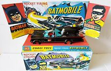 CORGI Toys Batman 267 BATMOBILE Diecast Model Car & Repro Box Plinth + Extras [h