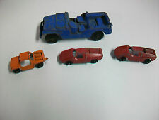 Lot Vintage TOOTSIETOY Metal Cars Blue Jeep Baja Run About Fiat Abarth