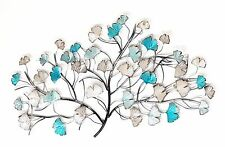 Tree Metal Hanging Wall Art Leaves Iron Sculpture Home Garden Décor BIG *85 cm*